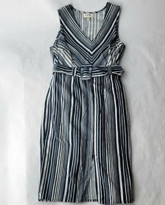 📦🛍3 for $30 Monteau Blue/White Belted Dress Sz S
